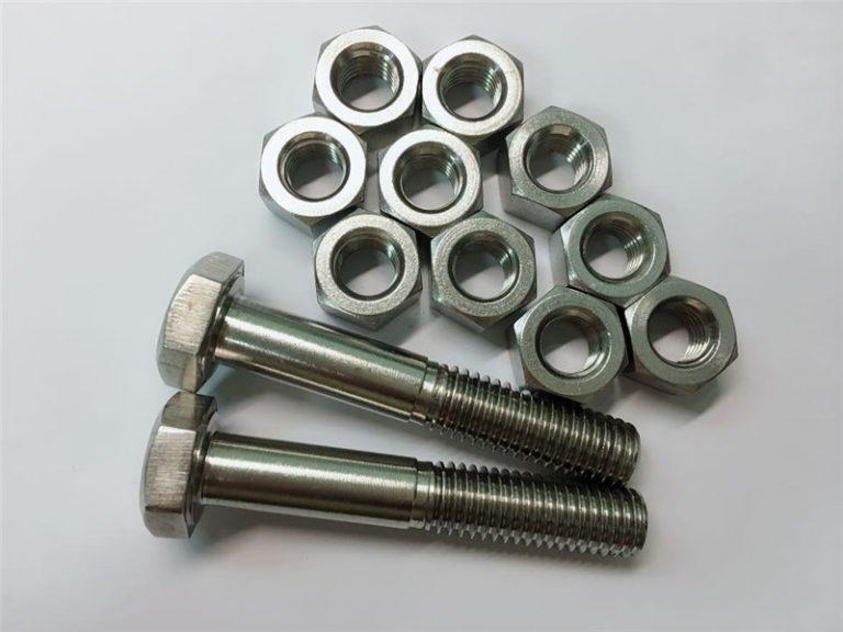 合金20螺栓和螺母不锈钢紧固件uns n08020