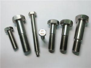 No.25-Incoloy a286六角螺栓1.4980 a286紧固件gh2132不锈钢五金机用螺丝固定件
