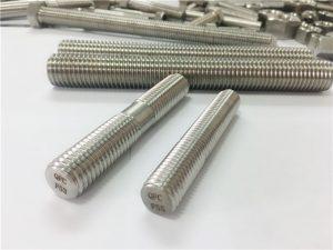定制自动加工不锈钢紧固件双端螺纹杆