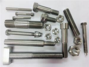 不同种类的定制铜镍紧固件